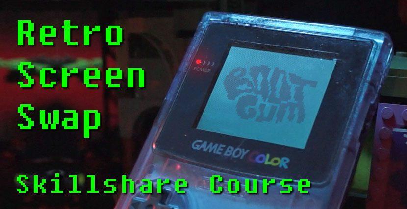 Game Boy Screen Swap Effect
